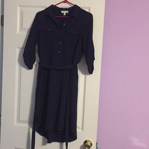 Dresses & Skirts - Blue collared high low dress.